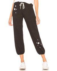 Monrow - Star Sweatpant In Black - Lyst
