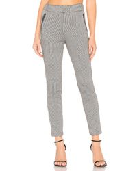 1.STATE - Multicolor Knit Puppytooth Zip Slim Leg Pant - Lyst