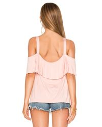 Ella Moss - Pink Bella Cold Shoulder Top - Lyst