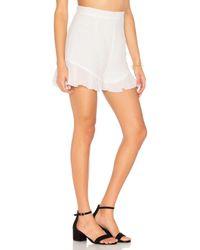 Lioness | White All Summer Long Linen Shorts | Lyst