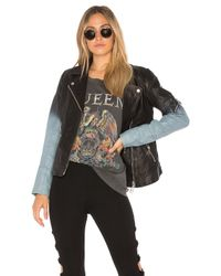 Doma Leather - Black Ombre Moto Jacket - Lyst