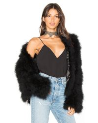 Adrienne Landau | Black Marabou Feather Jacket | Lyst