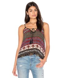 Band Of Gypsies | Black India Print Swing Cami | Lyst