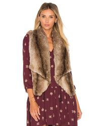 BB Dakota | Multicolor Jack By Julius Faux Fur Vest | Lyst