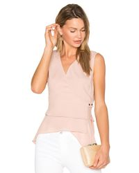 BCBGMAXAZRIA | Pink Eleni Wrap Top | Lyst