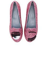 Chiara Ferragni - Pink Flirting Sleeper Loafers - Lyst