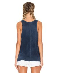 Cotton Citizen Blue Marbella Tank