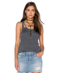 Chaser | Black Deconstructed Shirttail Tank | Lyst