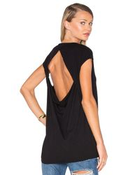 Chaser | Black Drape Back Muscle Tee | Lyst