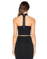 Donna Mizani - Black Strapless Mock Neck Crop Top - Lyst