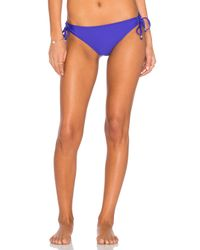 Ella Moss | Purple Stella Side Tie Bikini Bottom | Lyst