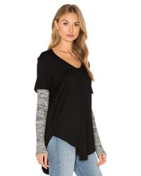 Fifteen Twenty - Black Layered Tee - Lyst