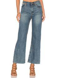 Free People | Blue Hopkin Hi Rise Wide Leg Jeans | Lyst