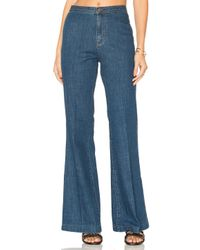 Free People | Blue Ray Of Sunshine Flare Jeans | Lyst