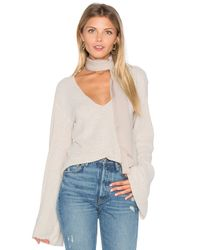 Free People   White Starman V Pullover Top   Lyst
