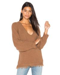Free People | Blue Irresistible V Sweater | Lyst