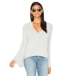 Free People | White Lovely Lines Pullover | Lyst