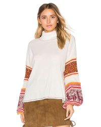 Free People | White Northern Lights Sweater | Lyst