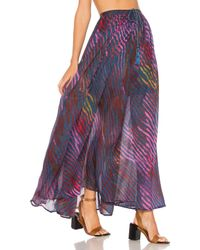 Free People | Blue True To You Printed Maxi Skirt | Lyst