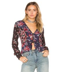 Free People | Black Way The World Turns Top | Lyst