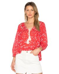 Free People | Red Never A Dull Moment Blouse | Lyst
