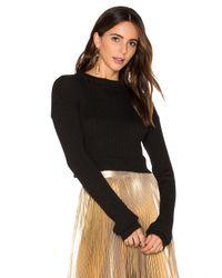 Frankie - Black Crop Sweater - Lyst