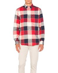 Gitman Brothers Vintage | Red Double Face Twill Button Down for Men | Lyst