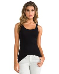 James Perse | Black Classic Brushed Long Tank | Lyst