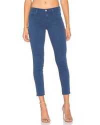 J Brand | Low Rise Ankle Crop Estate Blue | Lyst