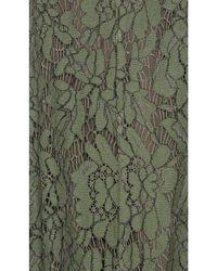 Keepsake - Green Porcelain Lace Mini Dress - Lyst