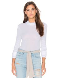 Lacausa | Multicolor Thin Thermal Mock Neck Top | Lyst