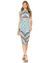 Mara Hoffman | Blue Bolnisi Rug Midi Dress | Lyst