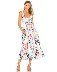 Mara Hoffman | White Placket Front Midi Dress | Lyst