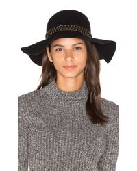 Michael Stars | Black Mixed Metal Floppy Hat | Lyst