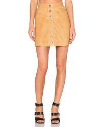 Muubaa | Natural Holland Mini Skirt | Lyst