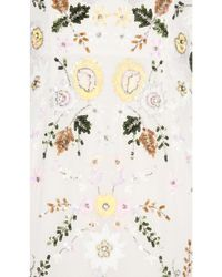 Needle & Thread - White Sunflower Embellished Tulle Gown - Lyst