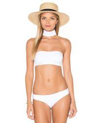 009364ebef4fd Lyst - Onia Laura Choker Bikini Top in White