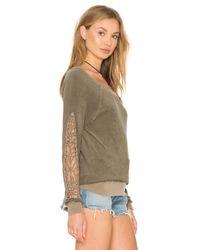 Pam & Gela - Brown Cutout Sleeve Sweatshirt - Lyst