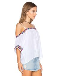 Piper | Black Xico Beaded Cold Shoulder Top | Lyst