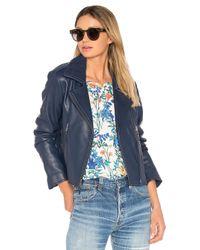 Parker | Blue Easton Leather Jacket | Lyst