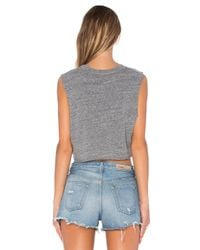 Private Party - Gray Champagne Problems Crop Muscle Tank - Lyst