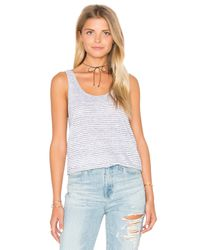 Rag & Bone | Black Summer Stripe Canyon Tank | Lyst