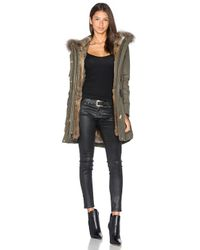 Sam. | Blue Tribeca Parka With Rabbit And Asiatic Raccoon Fur | Lyst