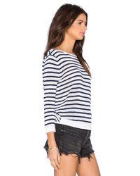 Shae - Blue Twist Back Crop Pullover Sweater - Lyst