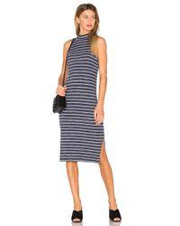 Splendid | Blue Striped Space Dye Rib Dress | Lyst