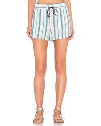 Splendid | Blue Beachcomber Stripe Short | Lyst
