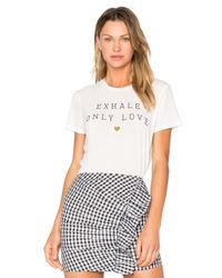 Spiritual Gangster | White Exhale Only Love Tee | Lyst