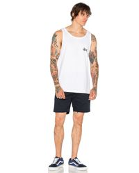 Stussy - White Basic Tank for Men - Lyst