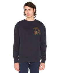 Scotch & Soda | Blue Chest Detail Sweatshirt for Men | Lyst