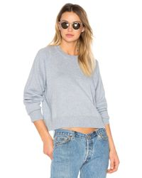 T By Alexander Wang   Multicolor Cashwool Crewneck Crop Sweater   Lyst